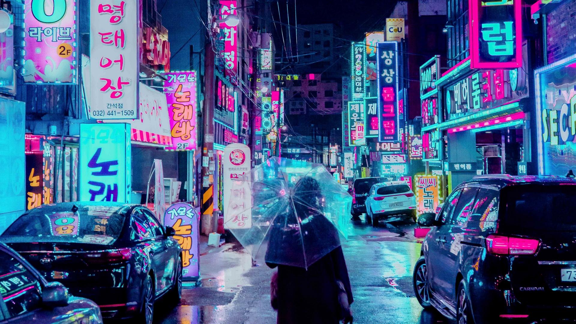 Neon City Desktop Wallpapers Wallpaper Cave