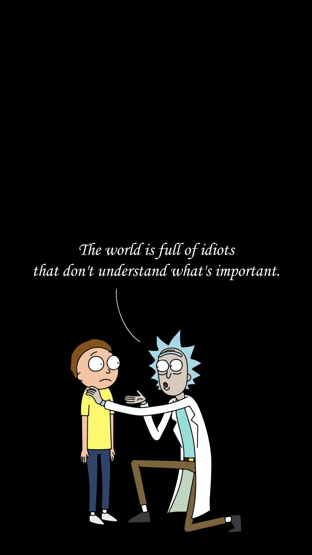 Funny Rick And Morty Wallpapers Wallpaper Cave