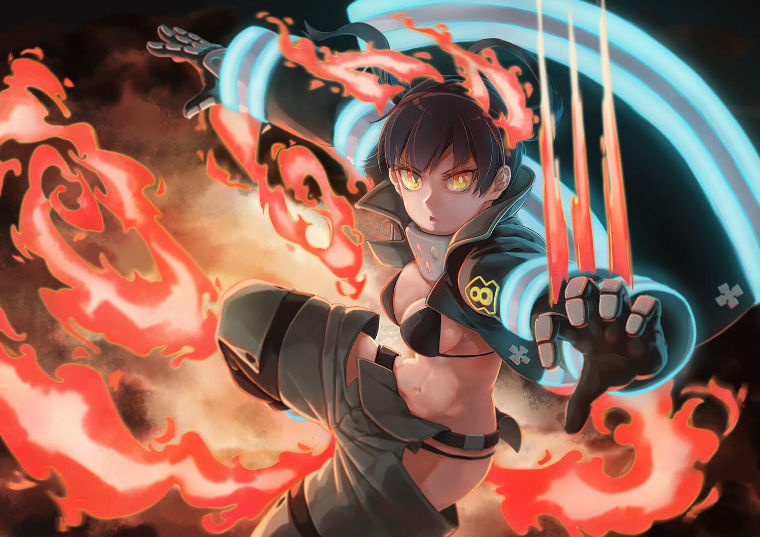 Fire Force Desktop Wallpapers Wallpaper Cave Check out this fantastic collection of fire force wallpapers, with 38 fire force background images for your desktop, phone or tablet. fire force desktop wallpapers