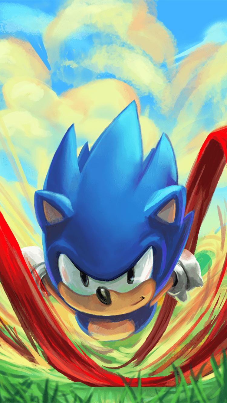 iphone 7 sonic the hedgehog movie wallpaper
