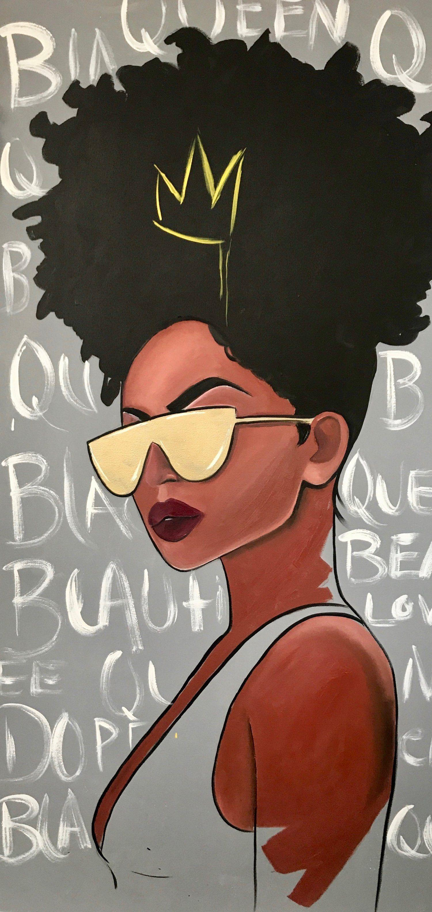 Black Girl Cartoon Phone Wallpapers Wallpaper Cave