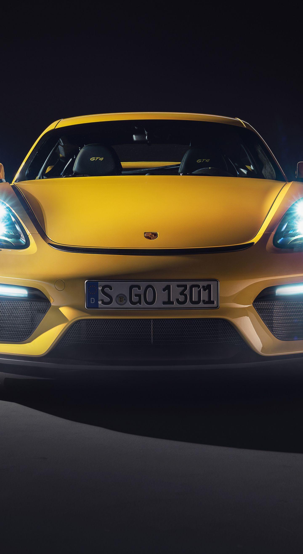2019 Yellow Porsche 718 Cayman Gt4 Sports Car Wallpapers Wallpaper Cave