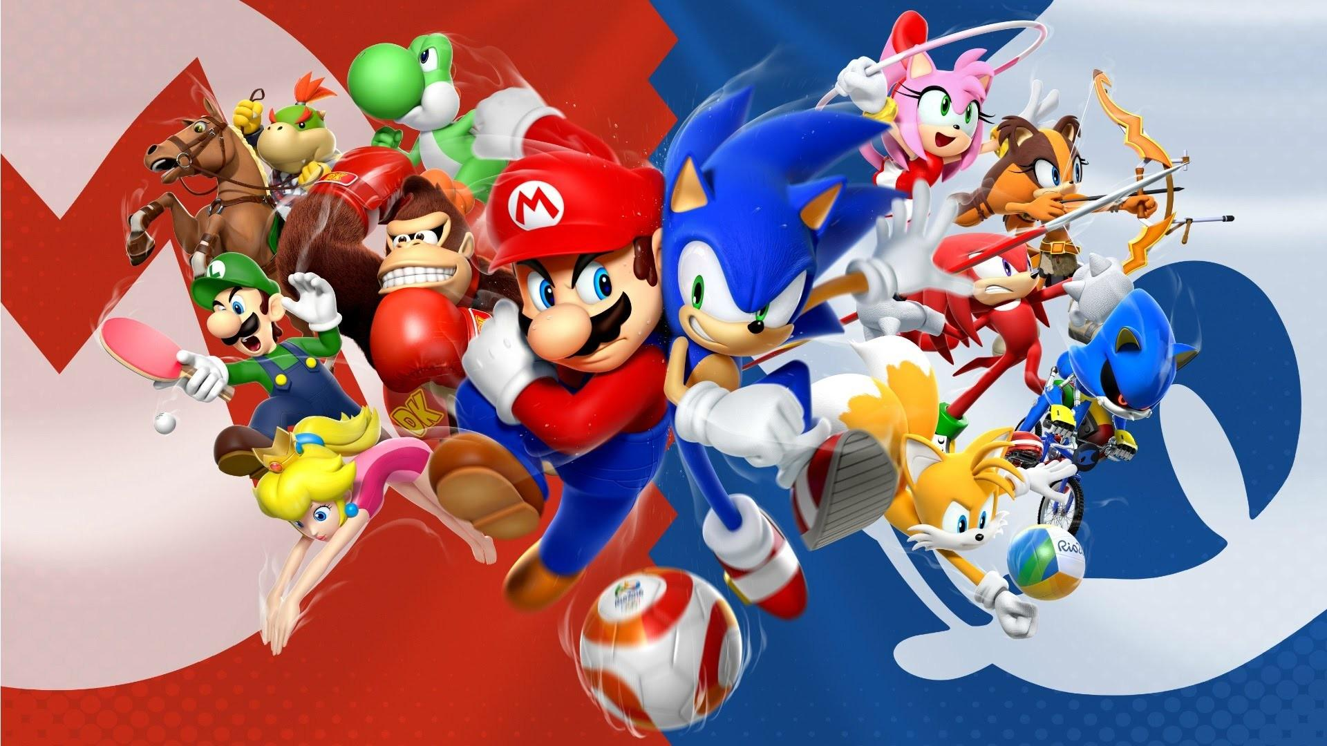 Sonic Vs Mario Wallpapers Wallpaper Cave