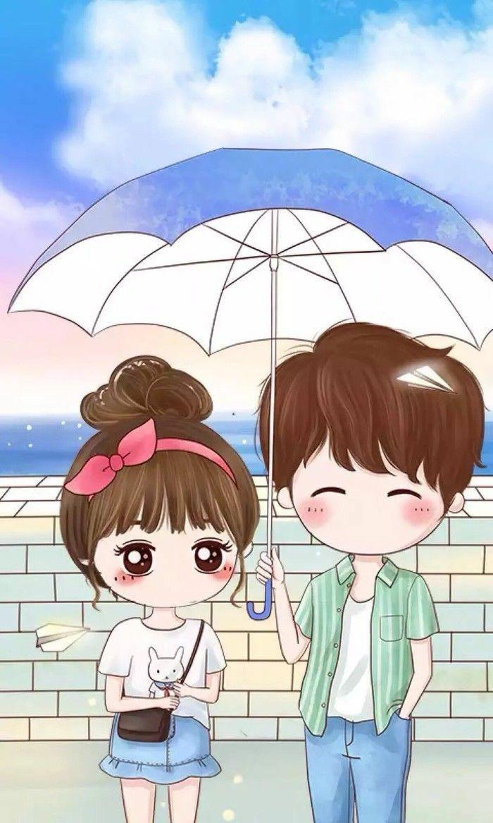 Boy And Girl Cartoon Wallpapers Wallpaper Cave