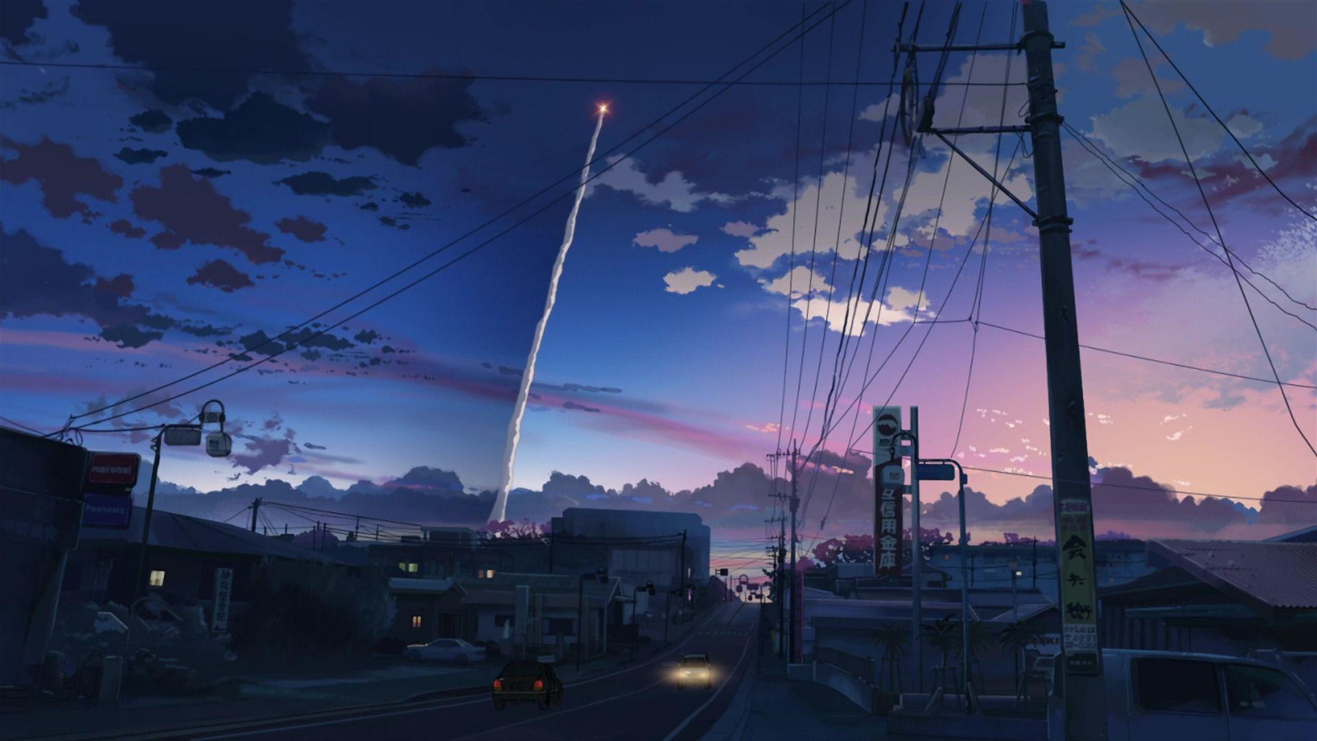 Japan Cartoon City Desktop Wallpapers Wallpaper Cave