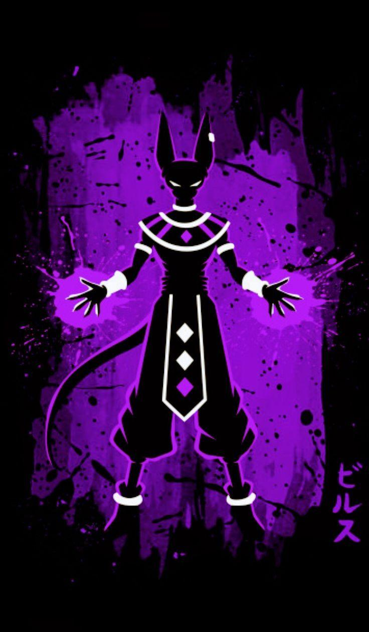 Dragon Ball Beerus Iphone Black And Violet Wallpapers Wallpaper Cave