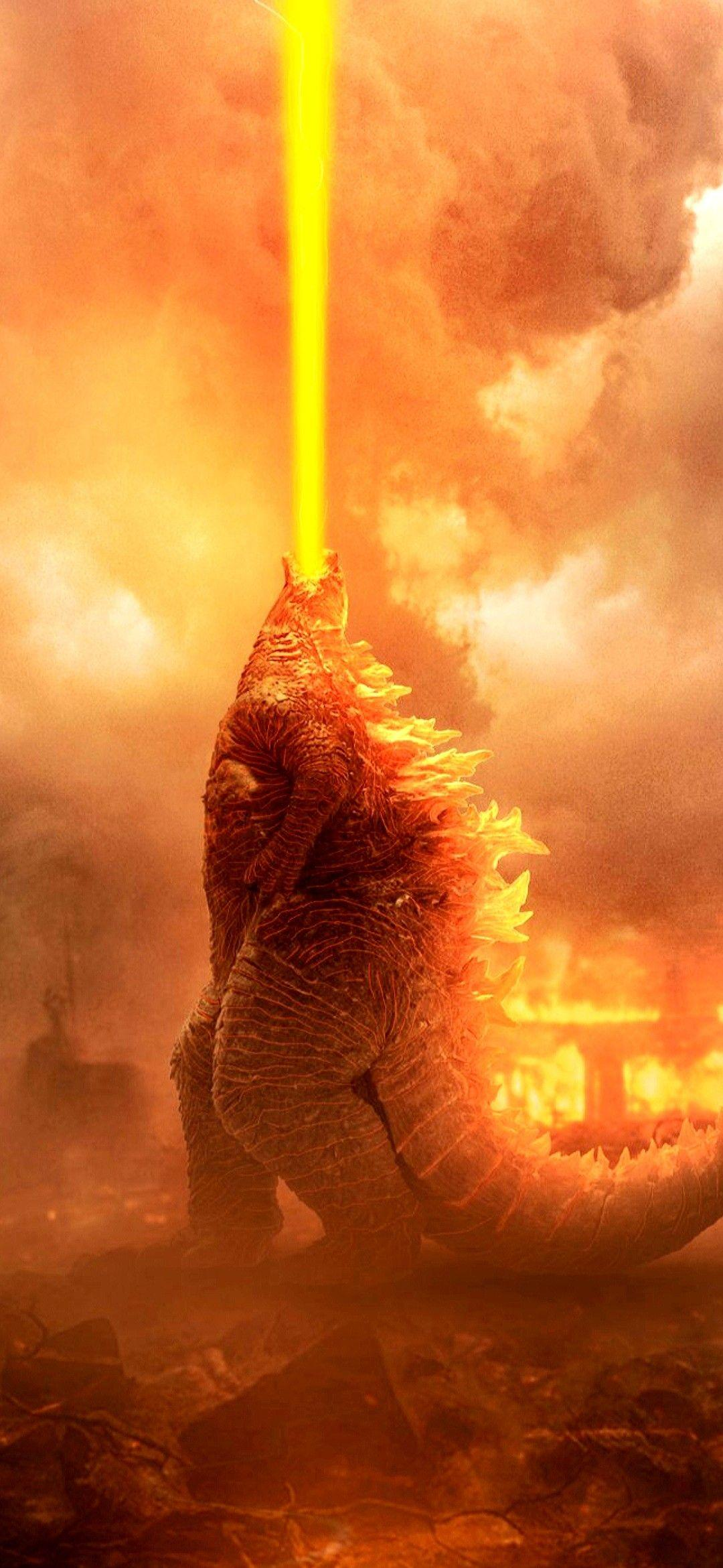 Fire Godzilla Hd Android Wallpapers Wallpaper Cave