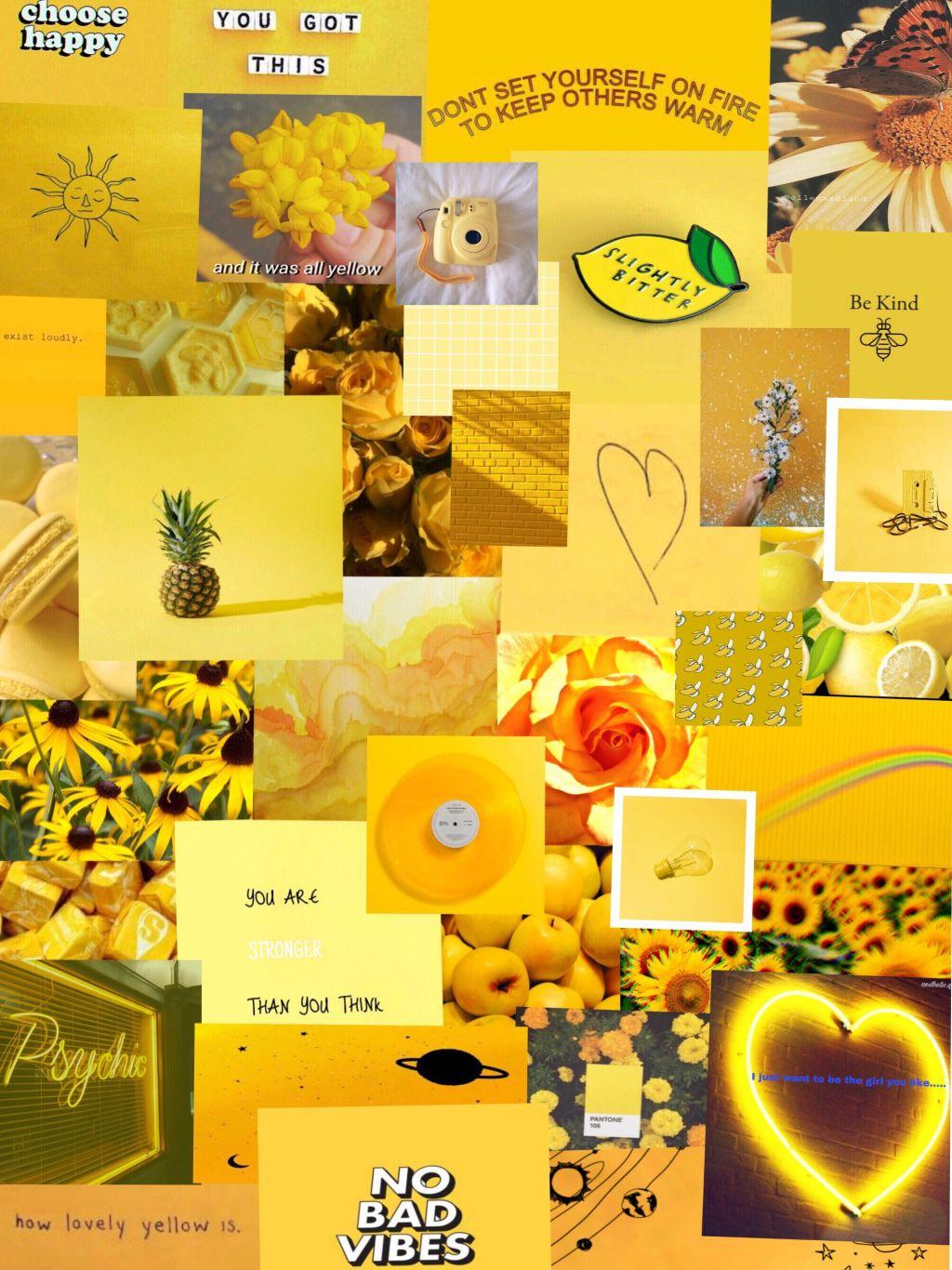 Yellow Pastel Aesthetic Wallpapers Wallpaper Cave