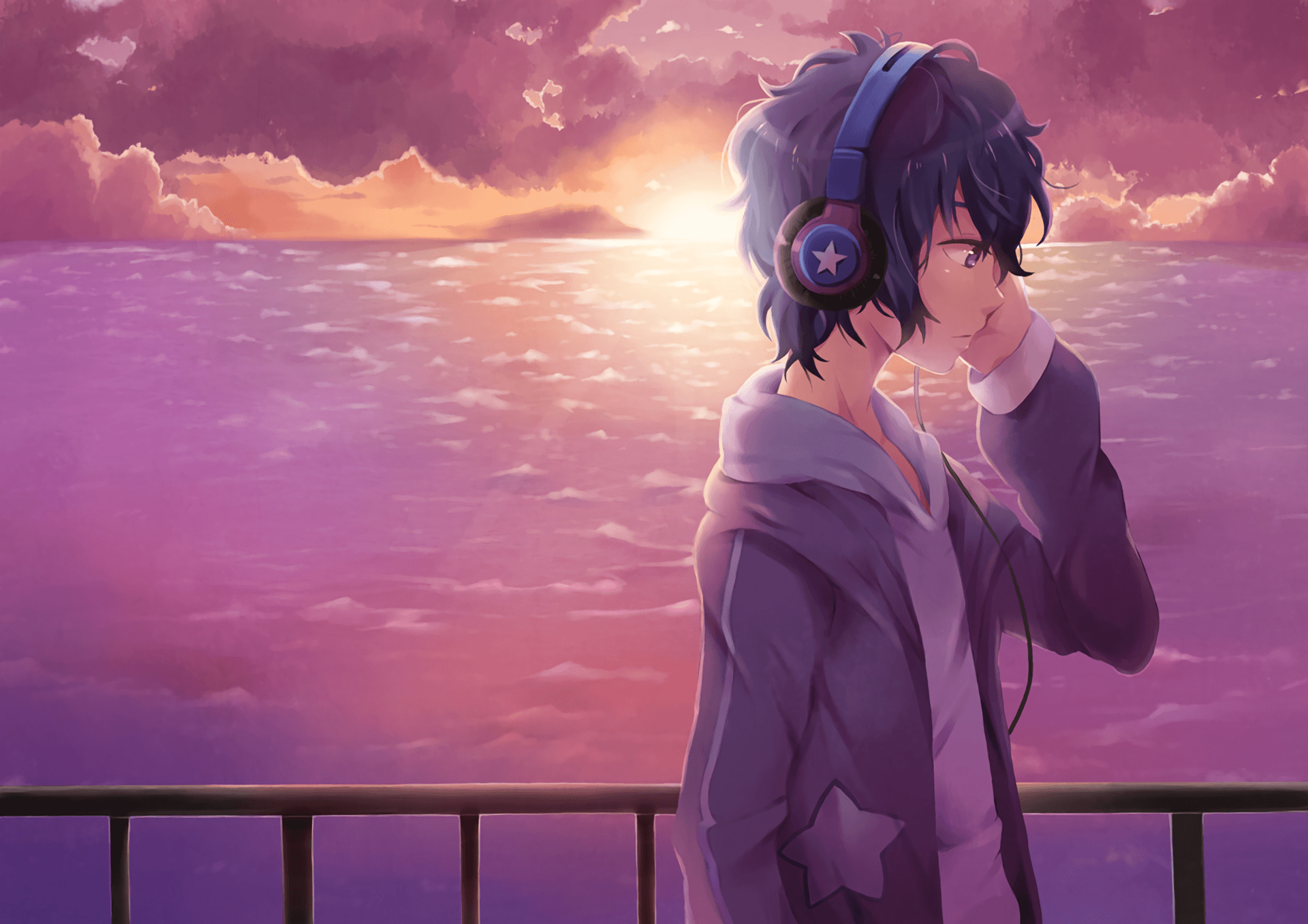 Anime Boy Headphones Wallpapers Wallpaper Cave
