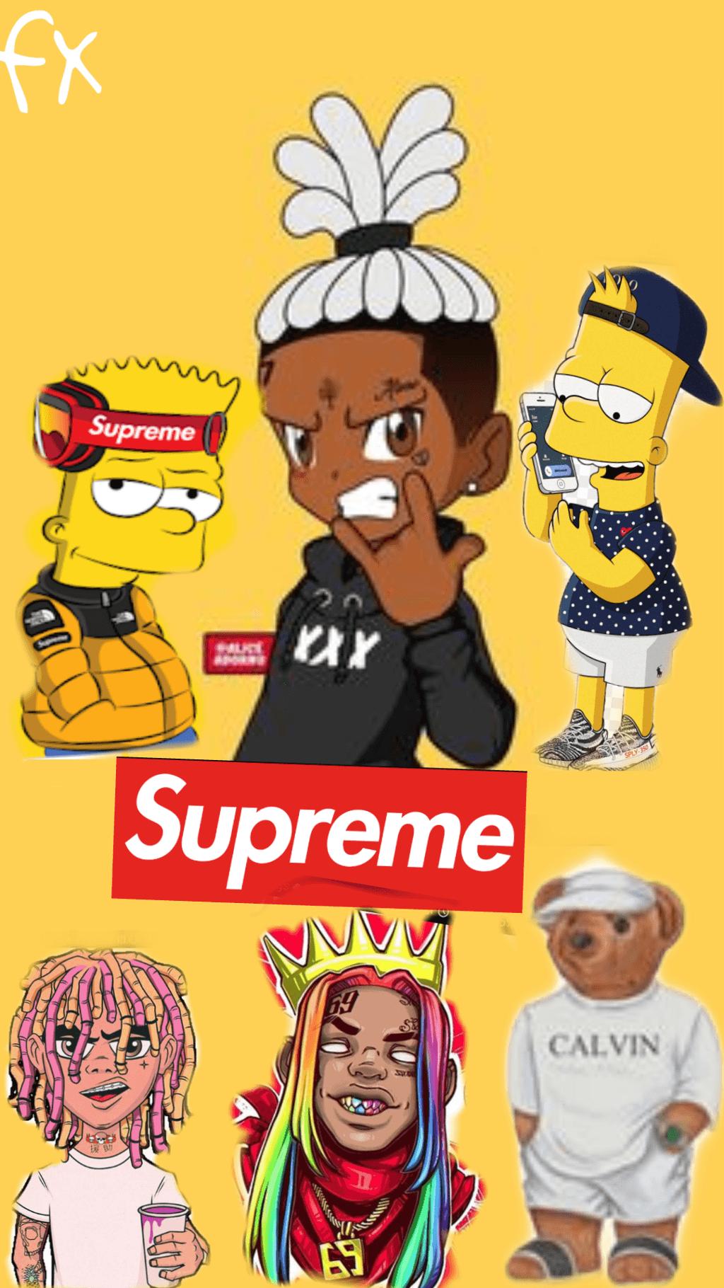 Bart Simpson Lil Pump Wallpapers Wallpaper Cave