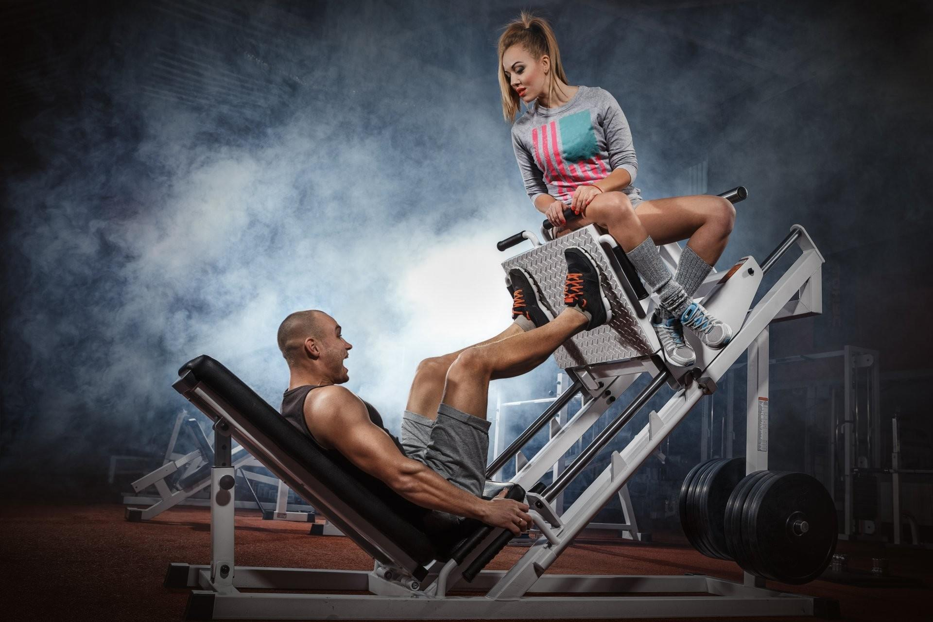 Gym Couple Wallpapers Wallpaper Cave