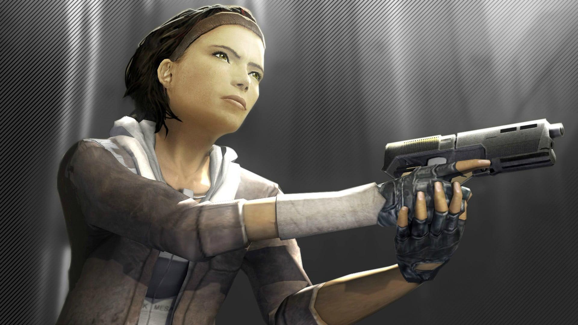 Wallpaper girl, room, laser, Half-Life, Half-Life: Alyx