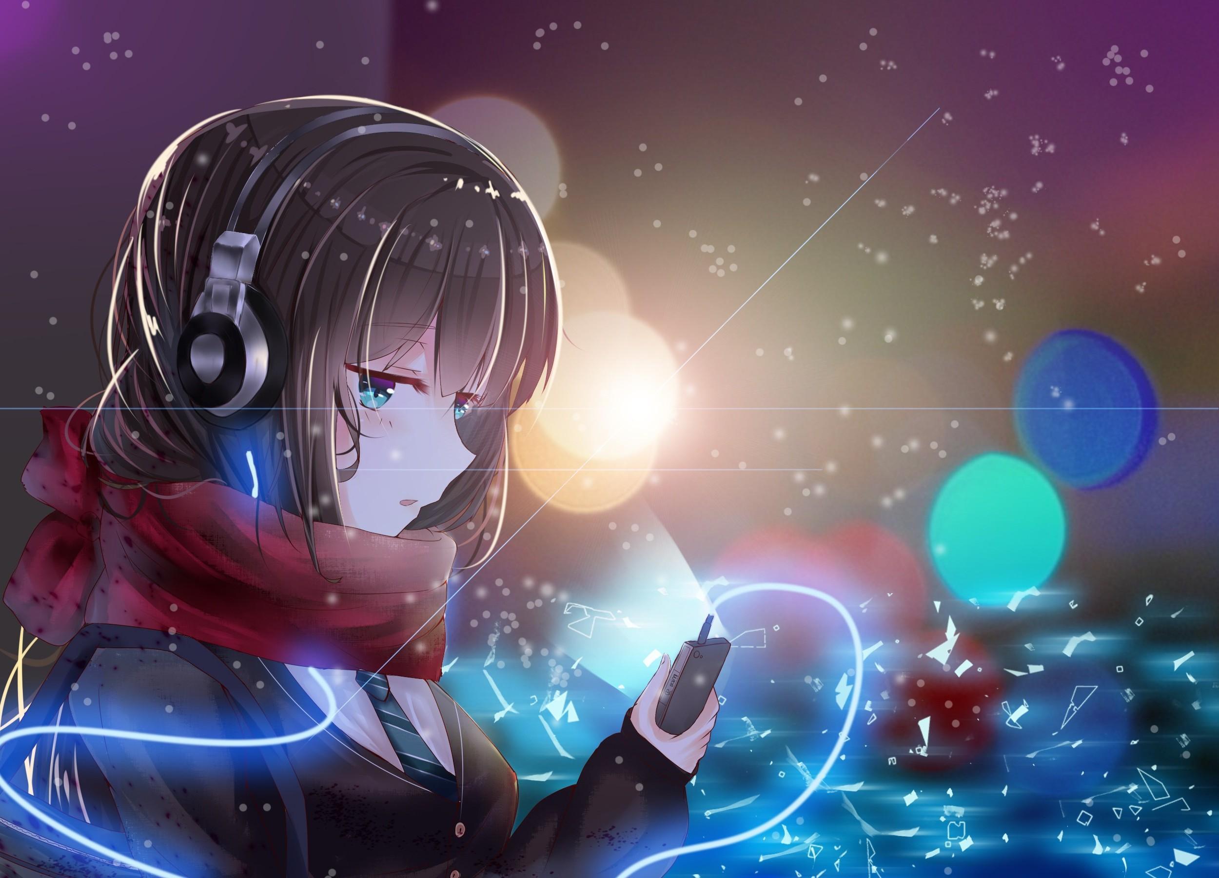 Anime Girl Headphone Wallpapers - Wallpaper Cave