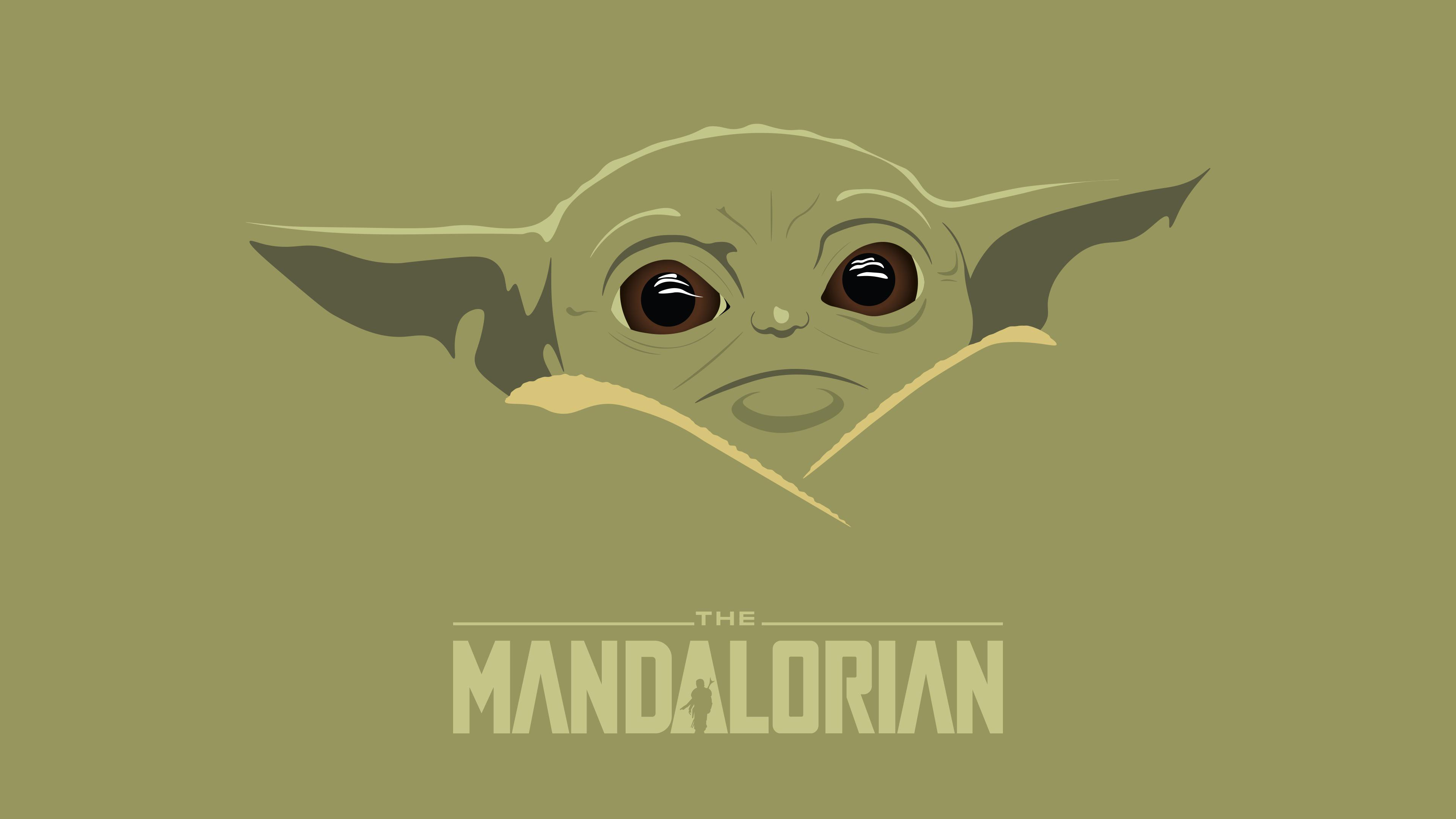 I made a minimalist wallpapers of baby yoda : TheMandalorianTV