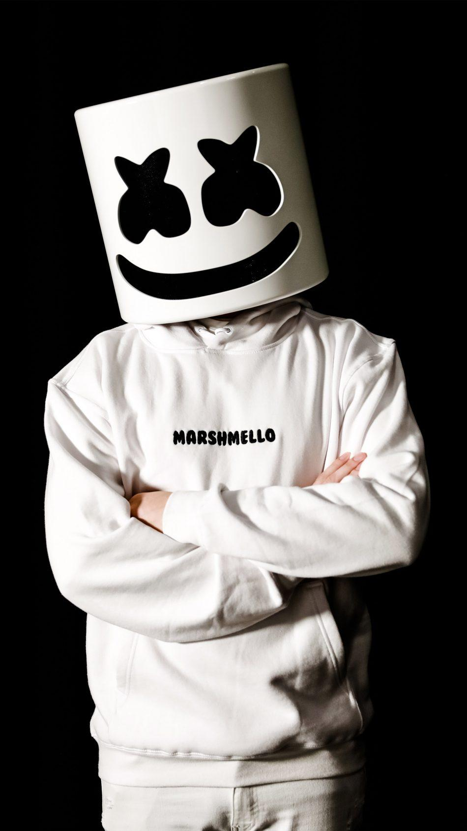 Marshmello Black And White Wallpapers Wallpaper Cave