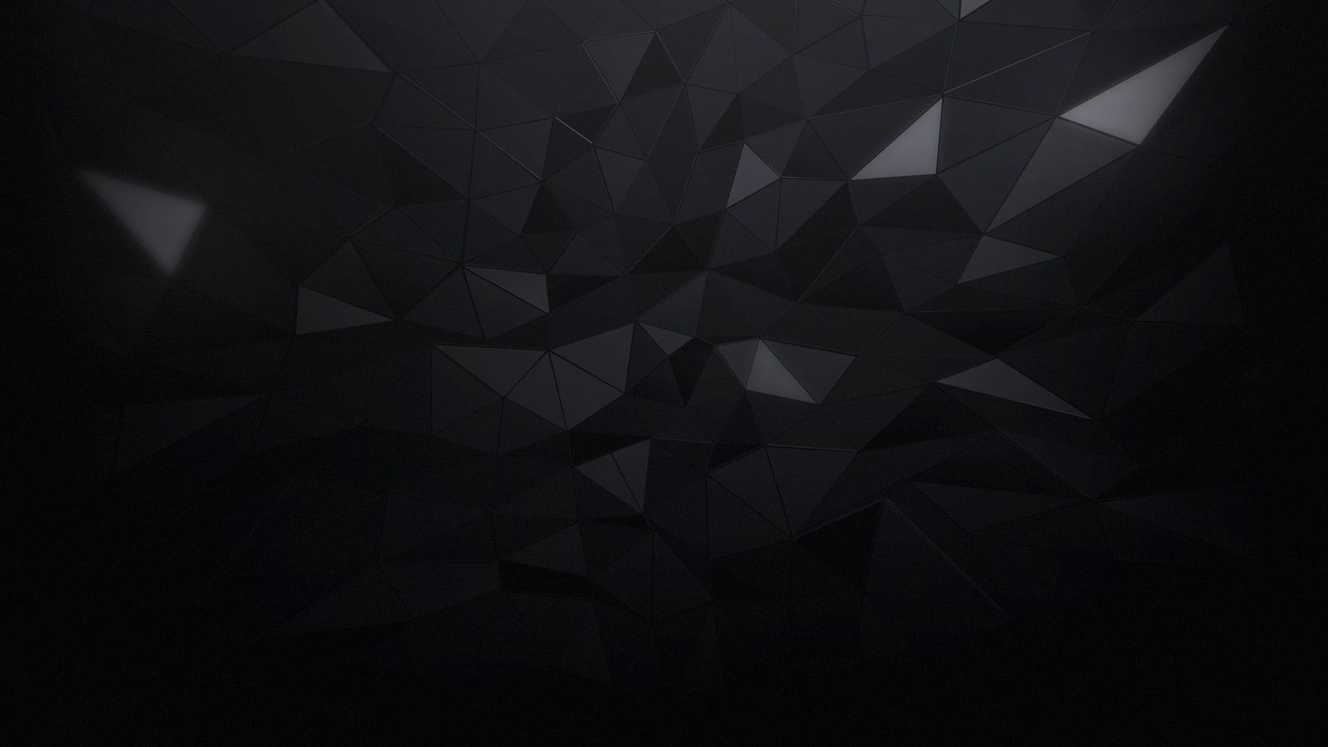 Minimalism, triangle, black, abstract HD wallpapers