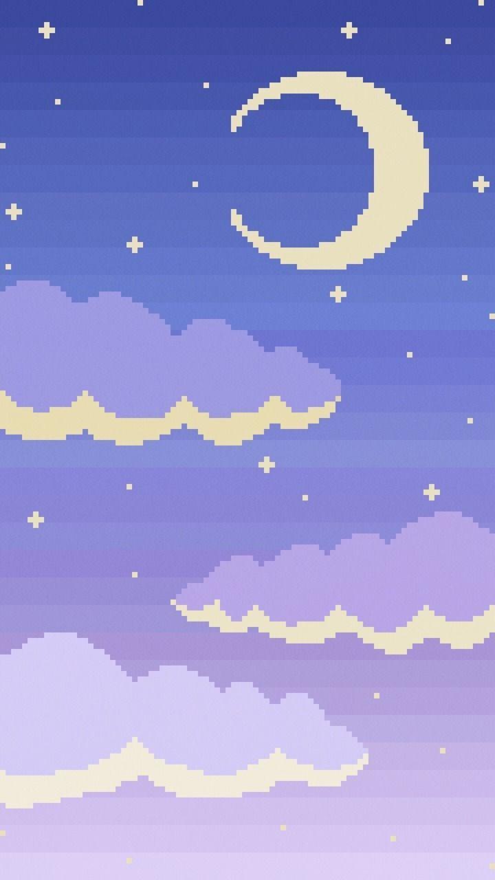 Kawaii Pixel Purple Wallpapers Wallpaper Cave