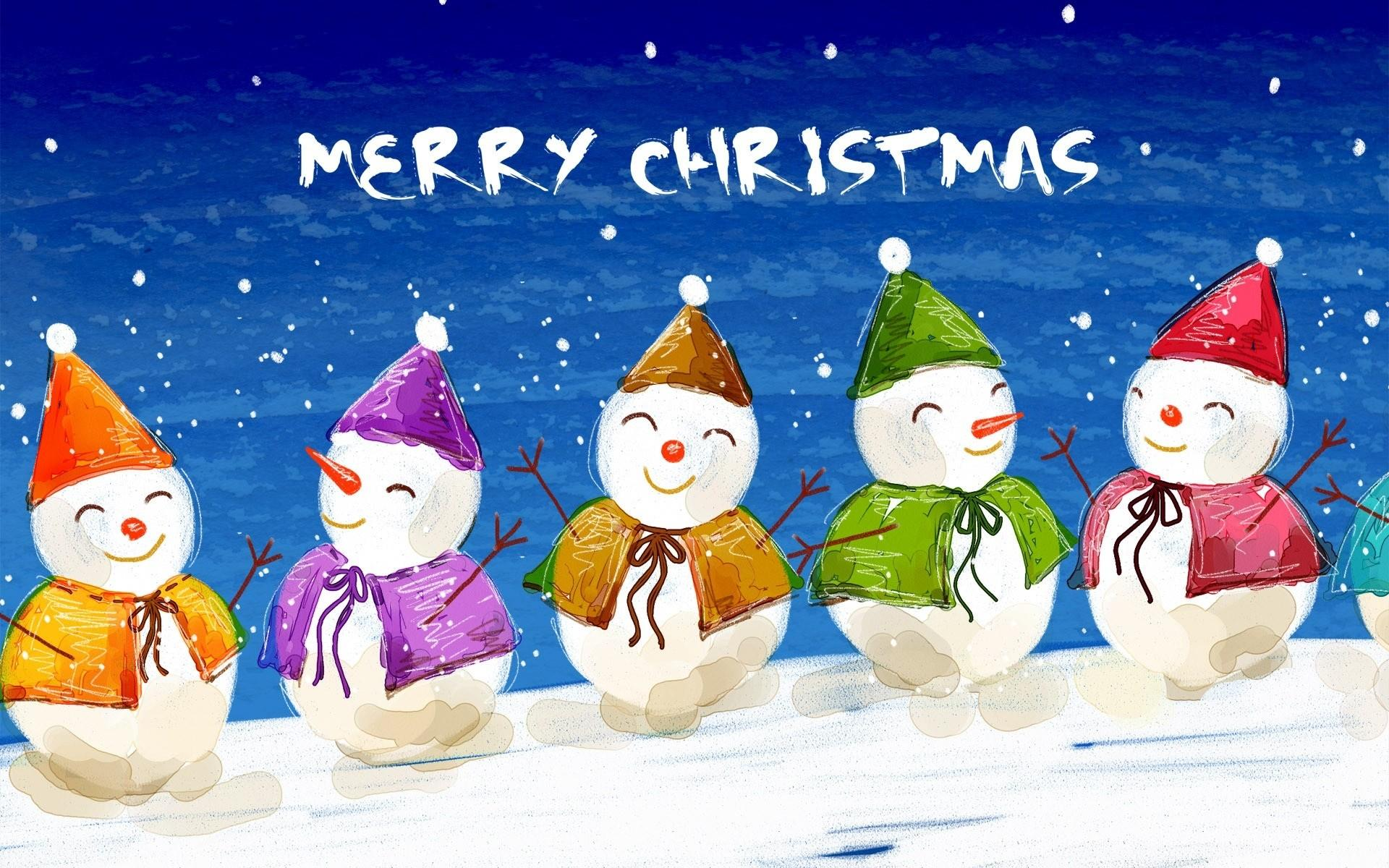 Merry Christmas Cartoon Wallpapers Wallpaper Cave