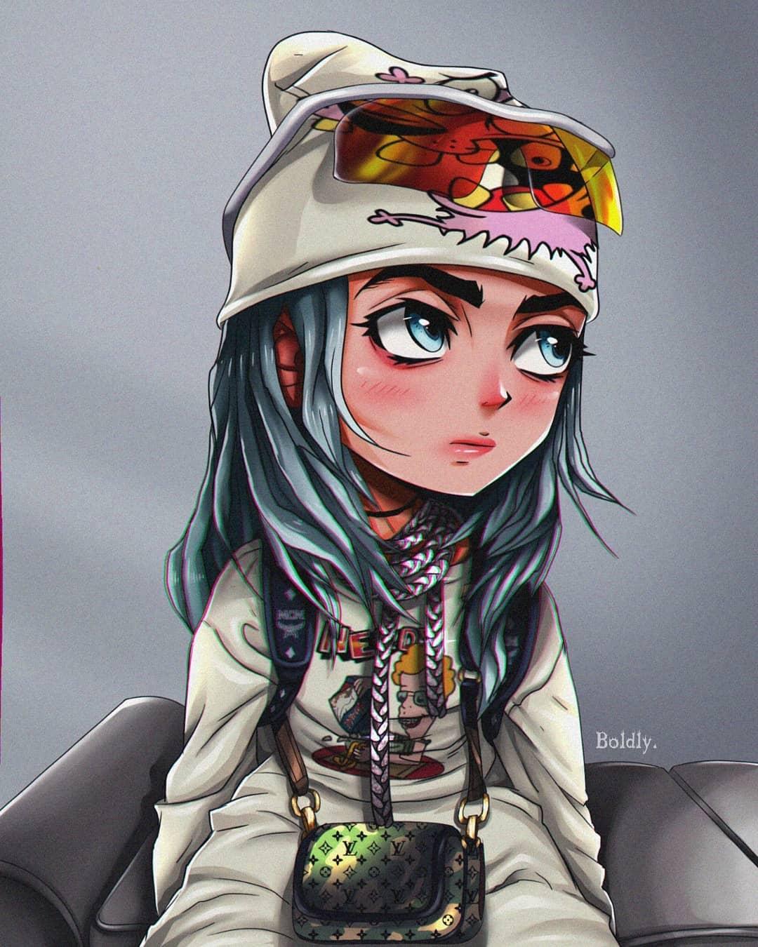Billie Eilish Cartoon Anime Wallpapers Wallpaper Cave