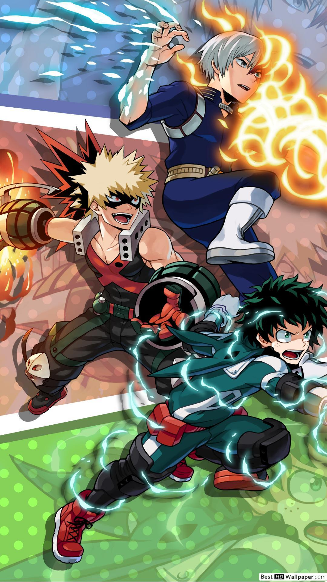 My Hero Academia Deku X Bakugou X Todoroki Wallpapers Wallpaper Cave