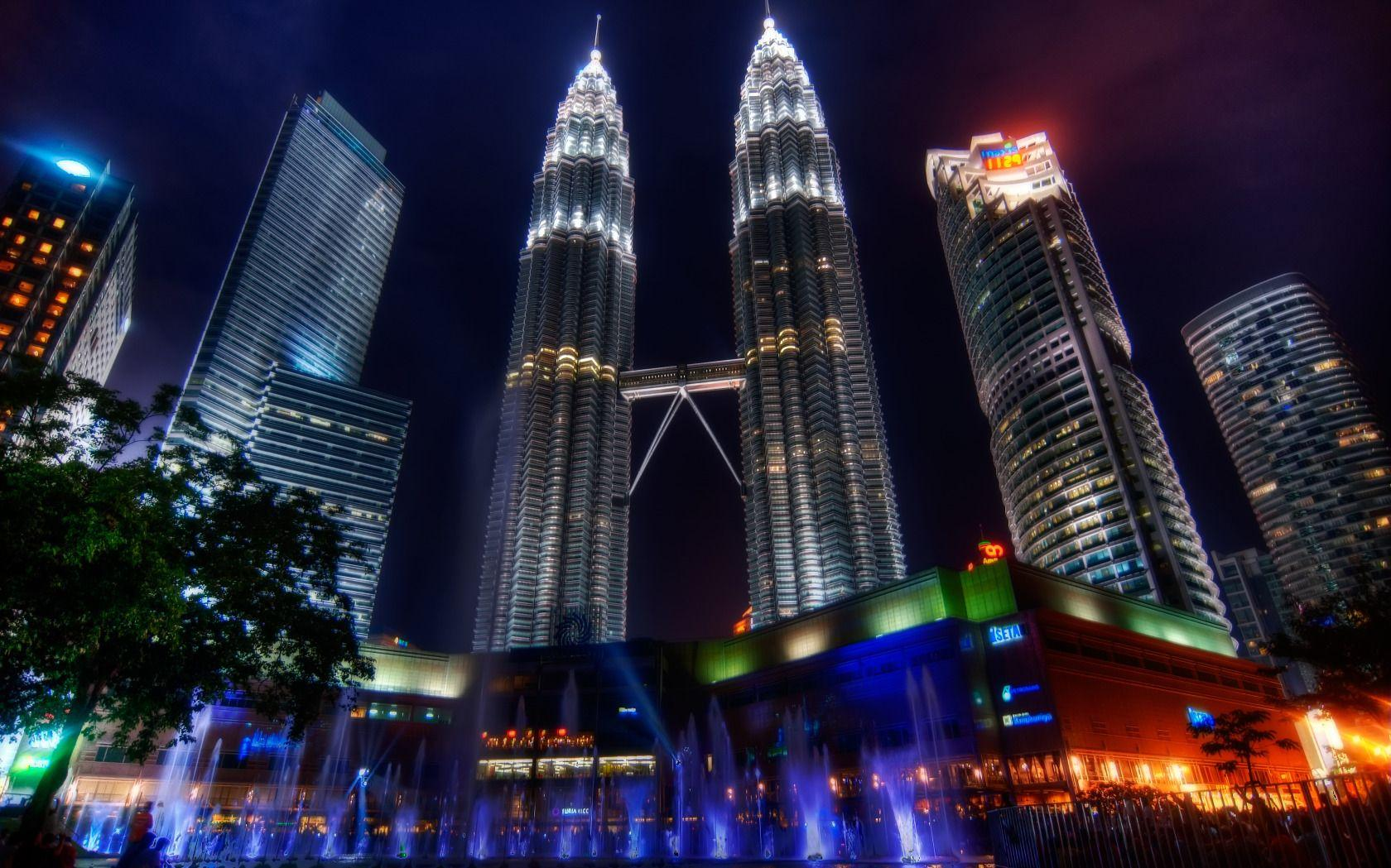Petronas Twin Towers, pair of skyscraper office buildings in Kuala ...