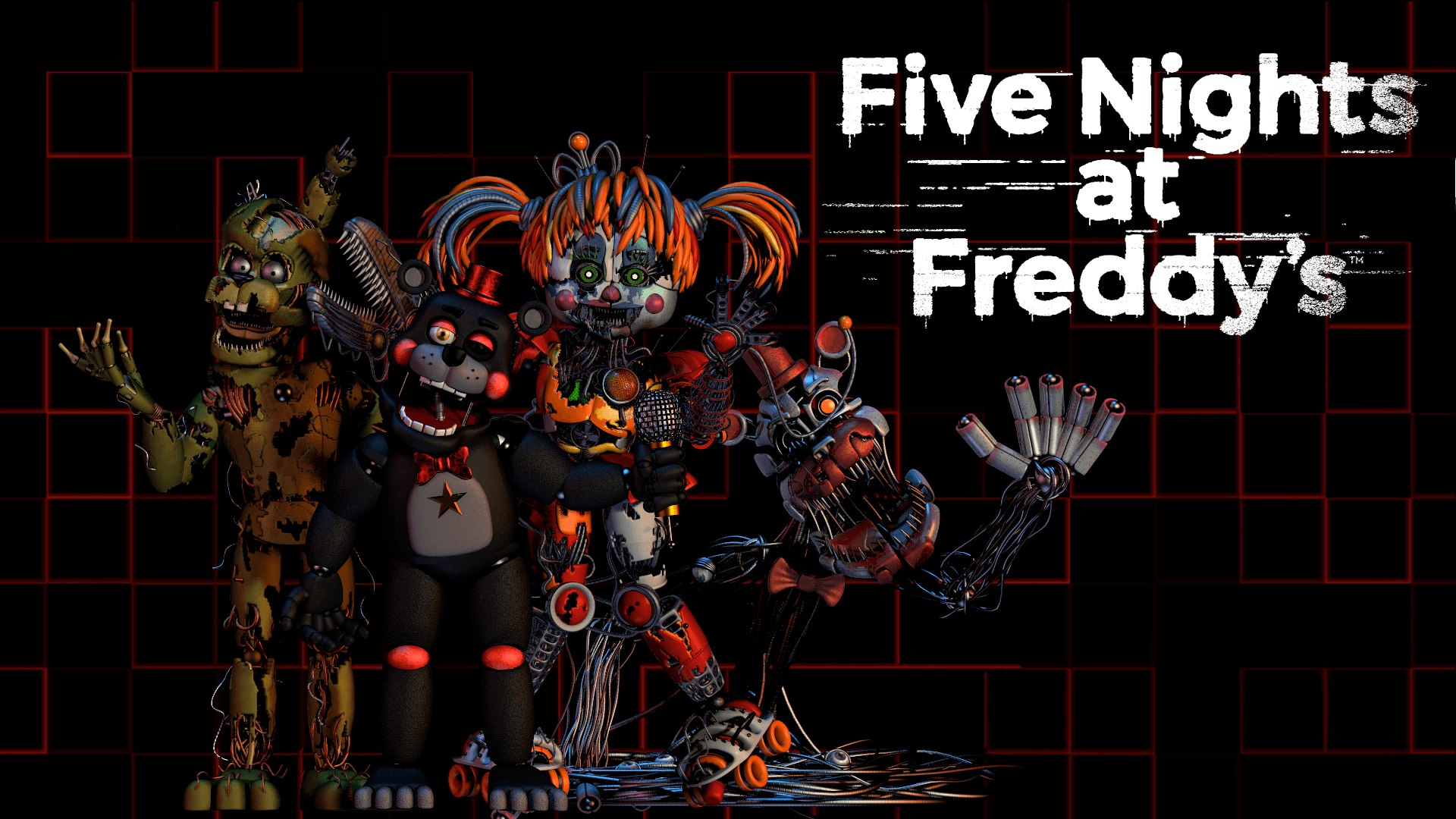 Five Nights At Freddy S Scrap Wallpapers Wallpaper Cave
