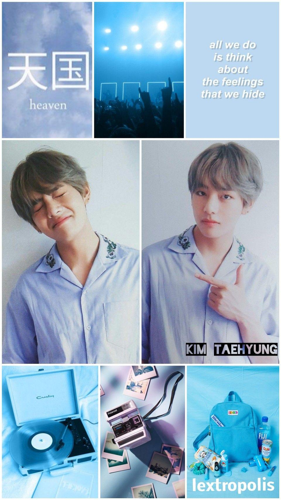 ☆~Taehyung Pastel Blue Aesthetic Wallpapers