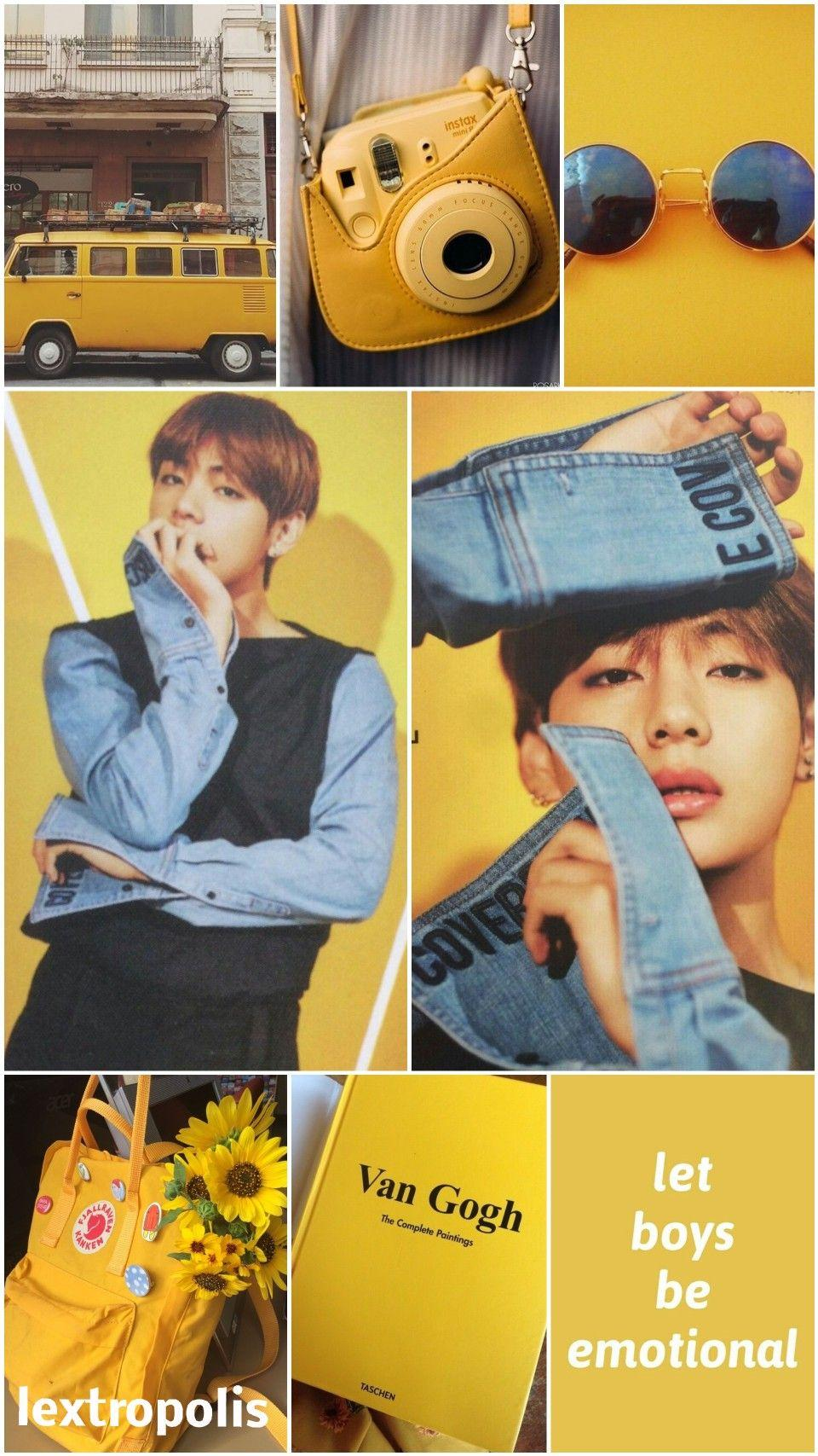 ☆~Taehyung Yellow Aesthetic Wallpaper~☆