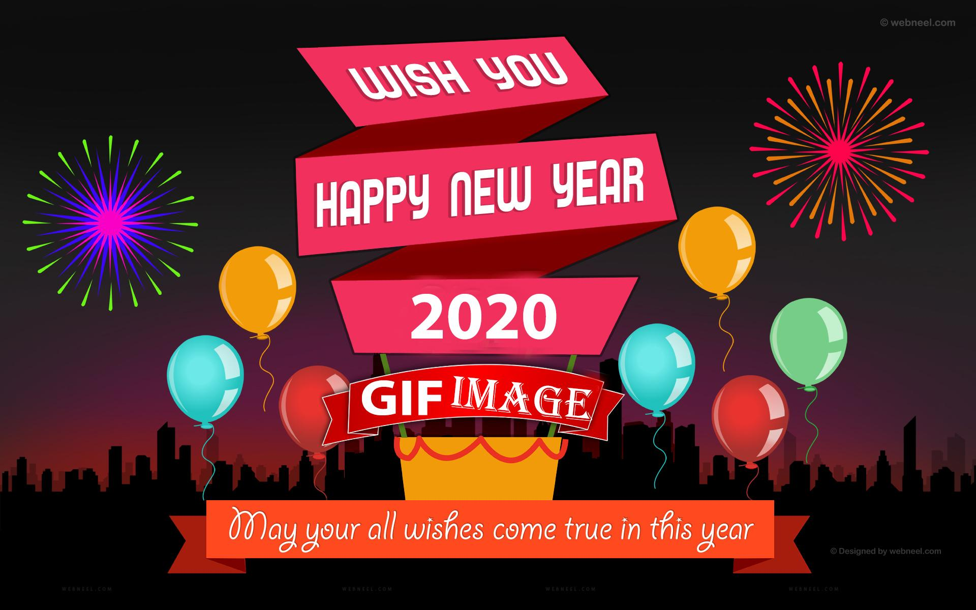 Happy New Year 2020 Gifs Animation Free Download