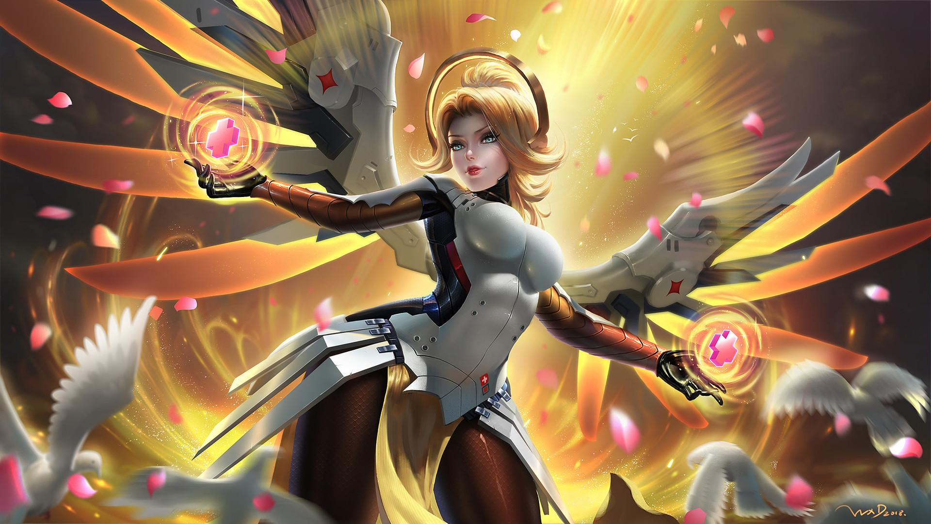 Overwatch Mercy Wallpapers Wallpaper Cave