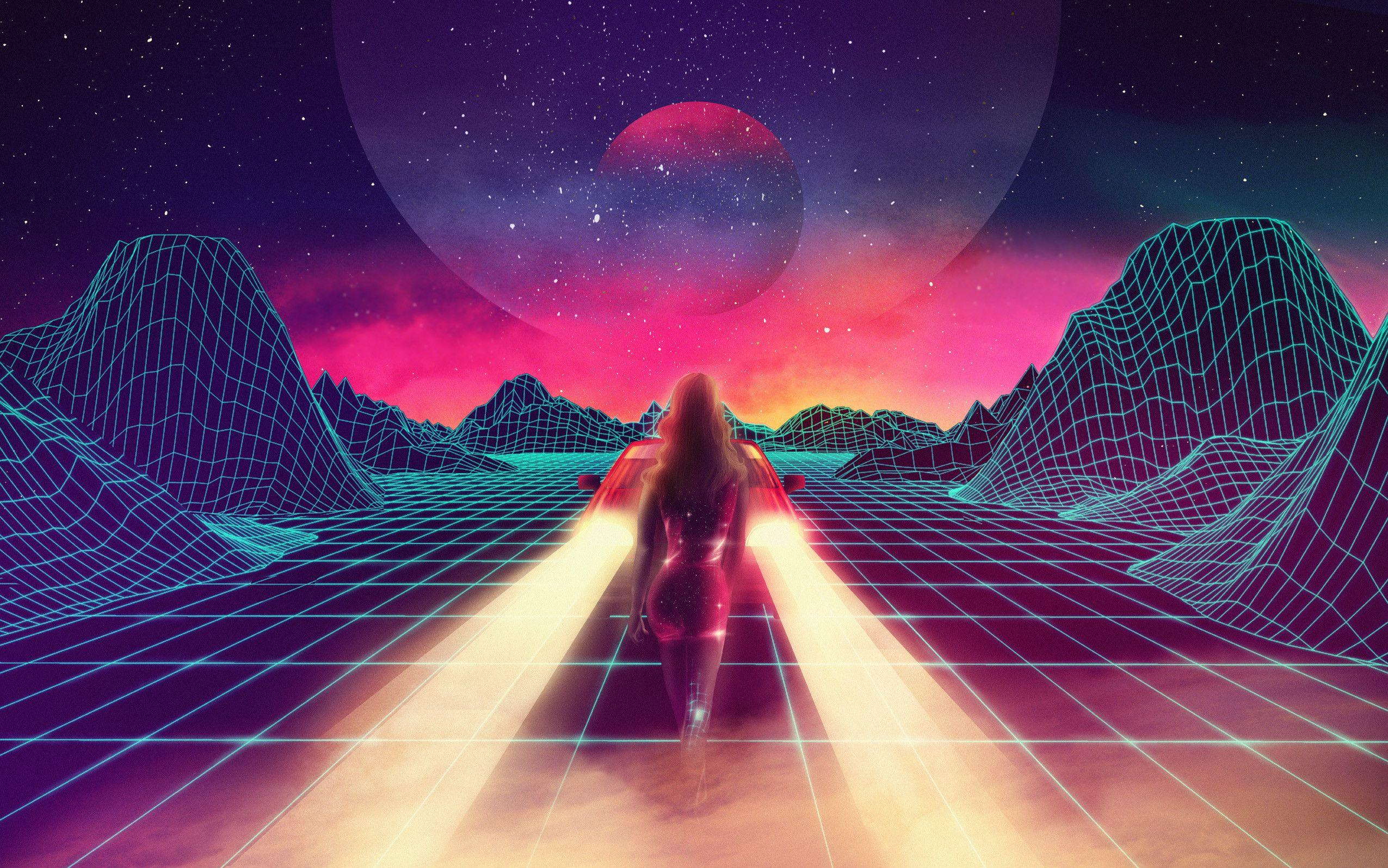 Looking for Outrun/80s style backgrounds or wallpapers : outrun