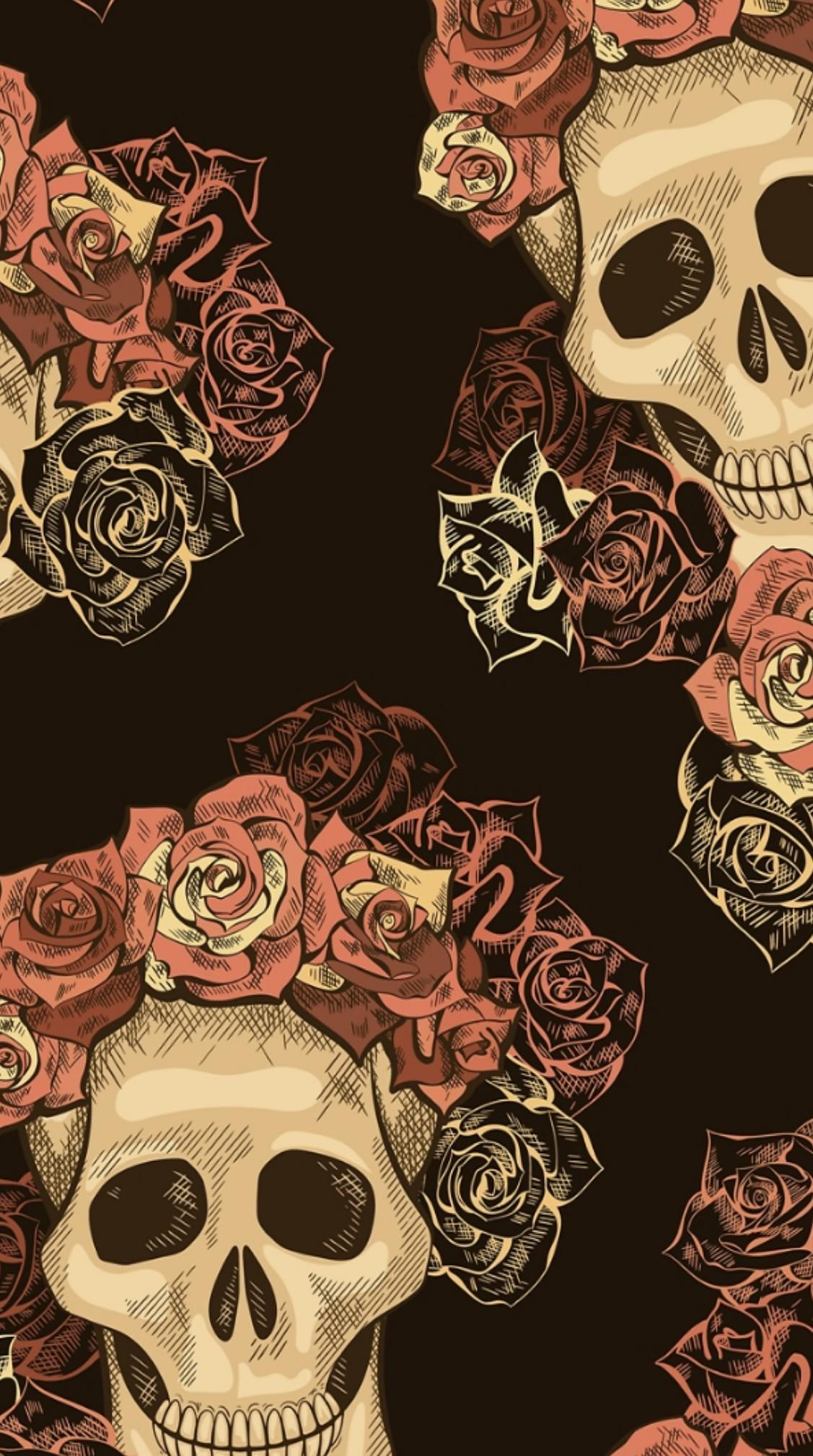 Rose Skull Android Wallpapers Wallpaper Cave