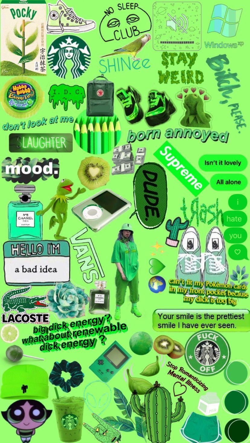 Photography Neon Green Aesthetic Wallpaper | aesthetic ...