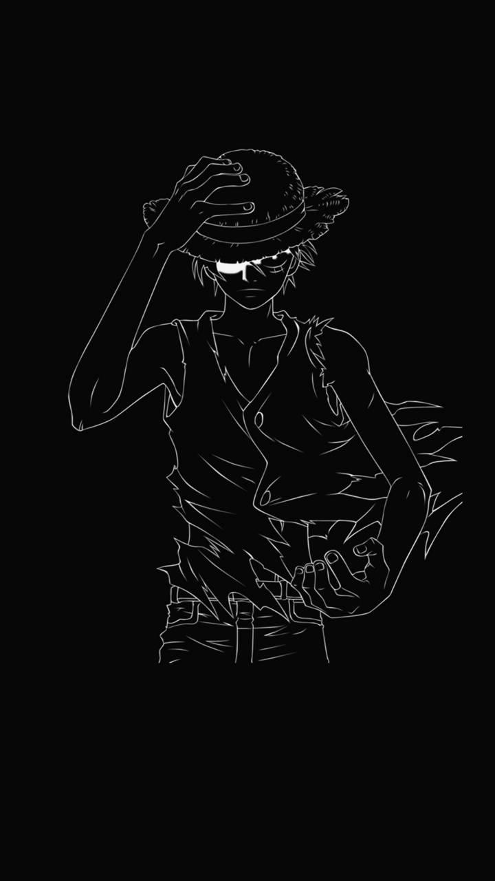 Luffy Wallpaper Black Background Gambarku