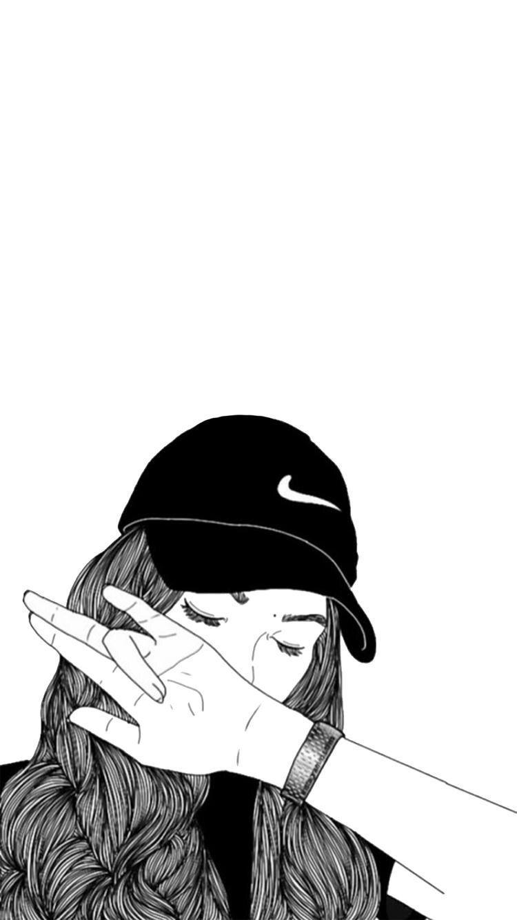 Sad Girl Tumblr Draw Wallpapers Wallpaper Cave