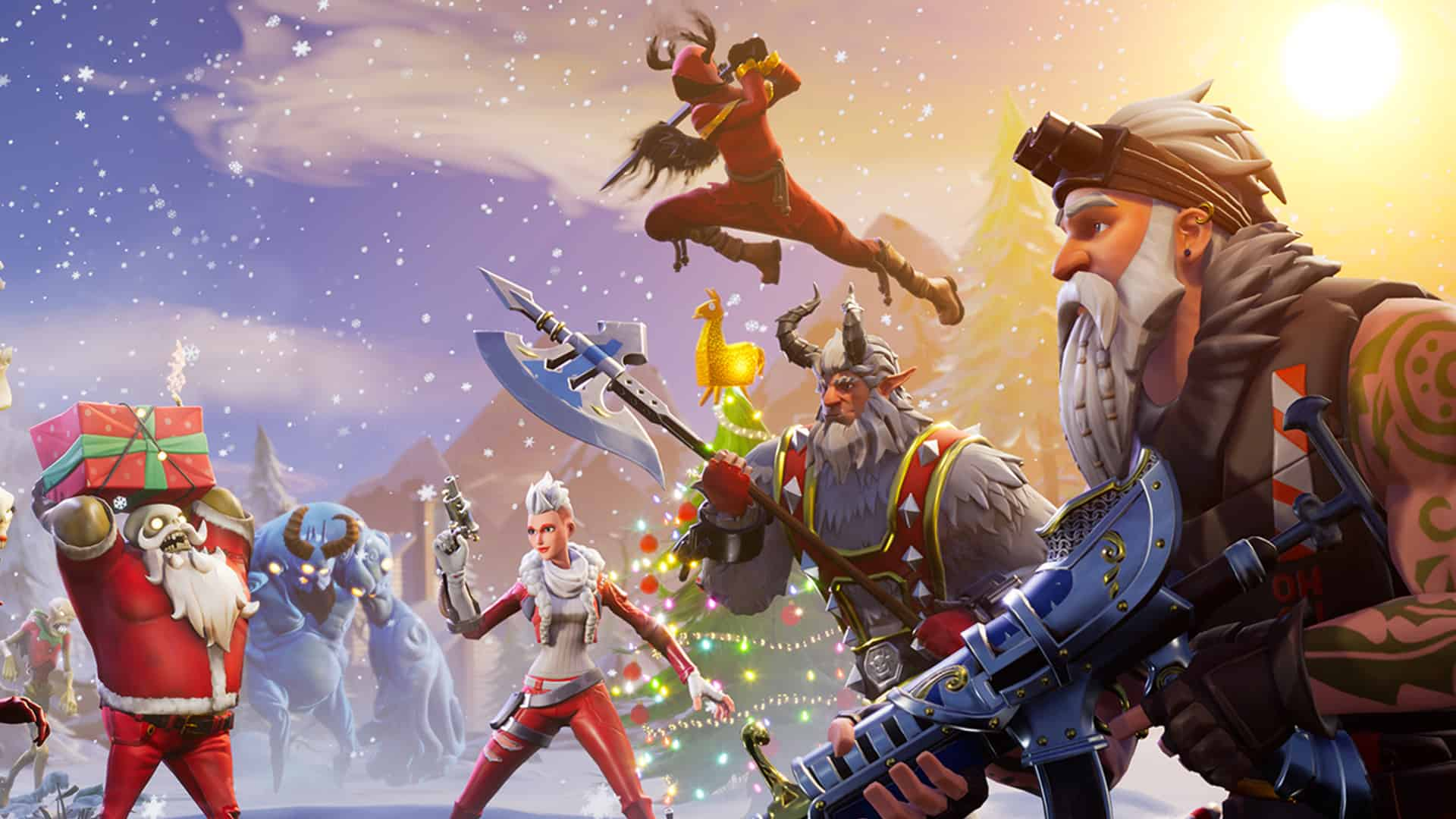 Fortnite Save The World Christmas Wallpapers Wallpaper Cave