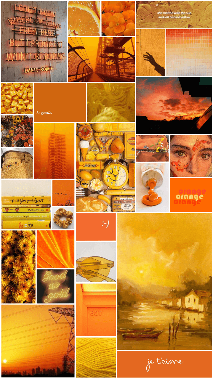Orange And Mustard Yellow Aesthetic For @cra Zy Vibessz