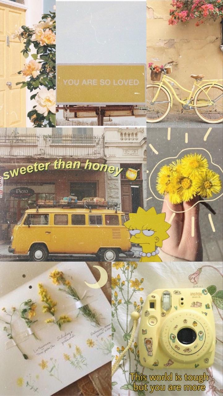 Vintage Aesthetic Wallpapers Yellow