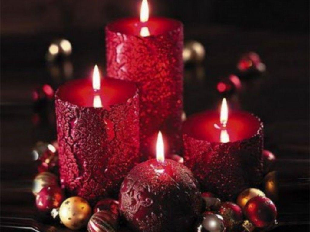 Rose And Christmas Red Candles Wallpapers Wallpaper Cave