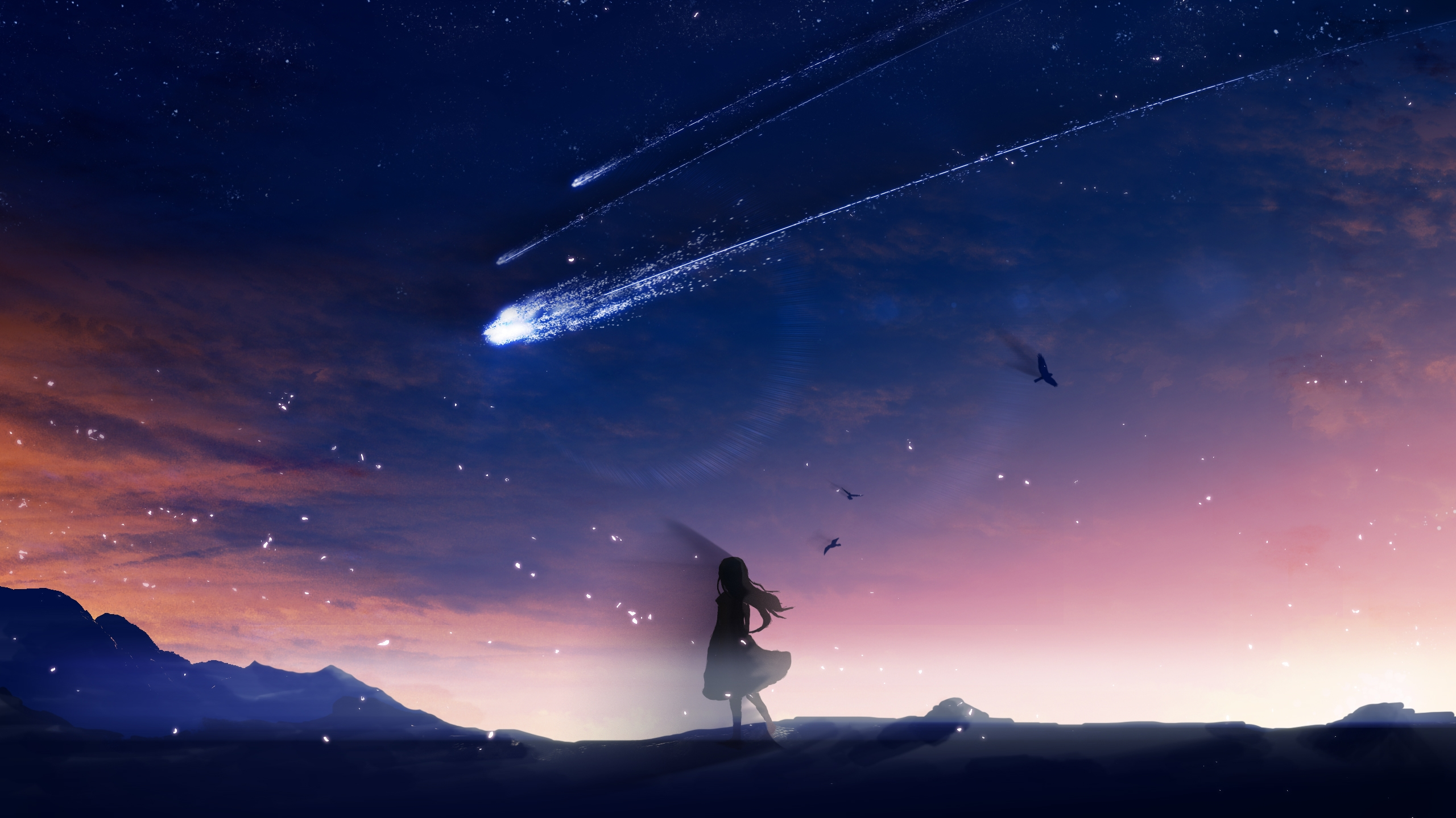 Girl And Sky Wallpapers Wallpaper Cave