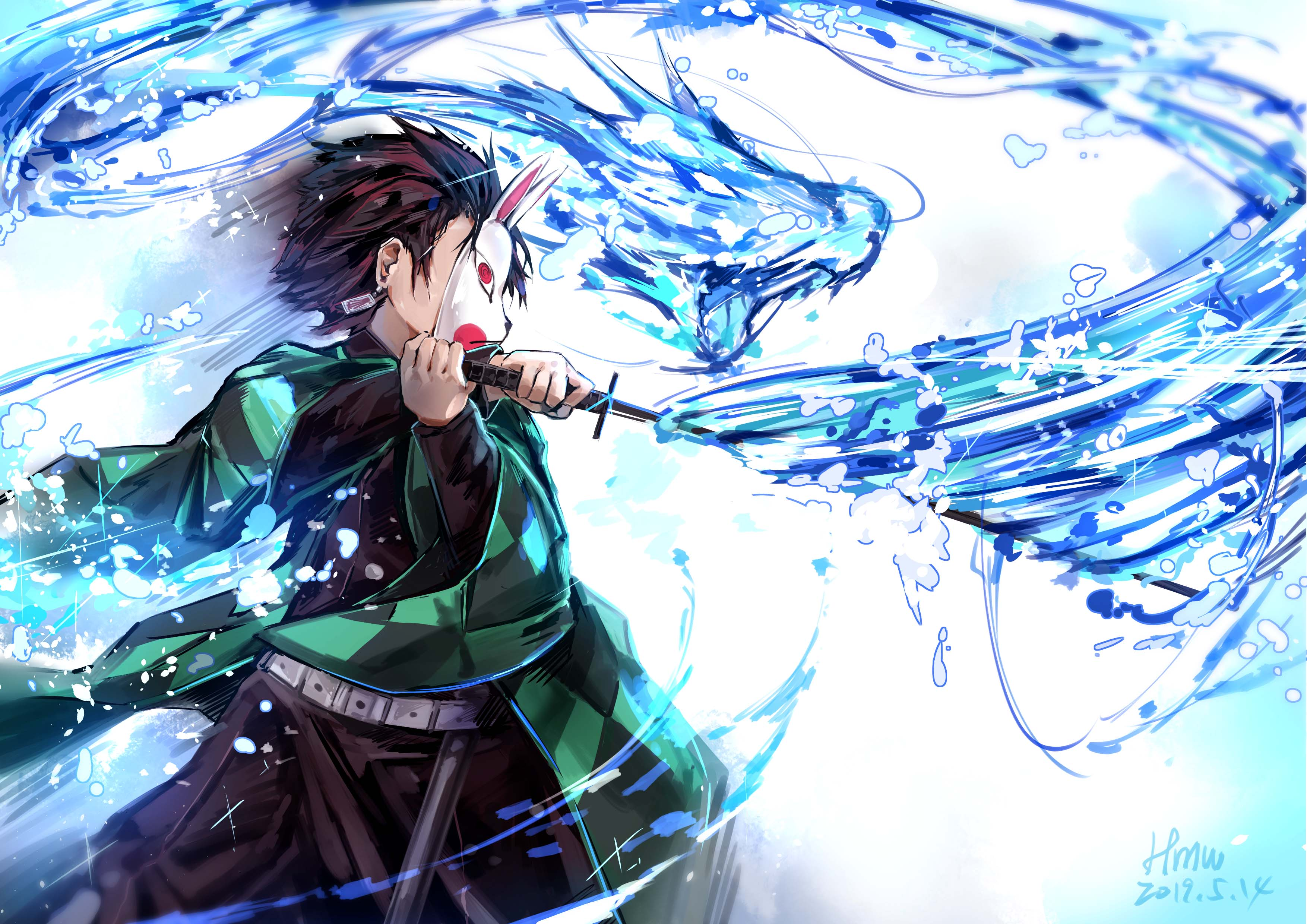 Tanjirou Kamado character from Demon Slayer Anime Wallpapers ID:4075