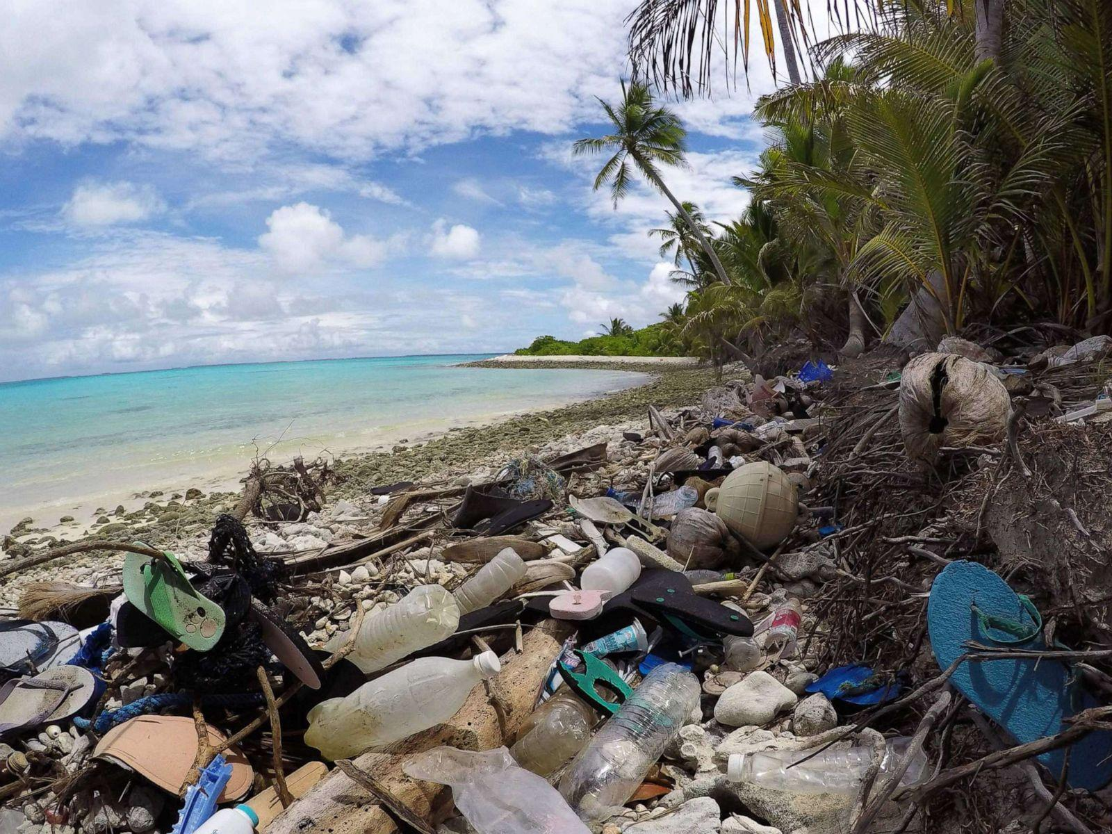 On the remotest of islands, hundreds of tons of plastic and