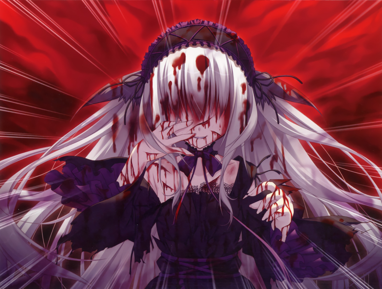 Anime Girl Gore Wallpapers Wallpaper Cave