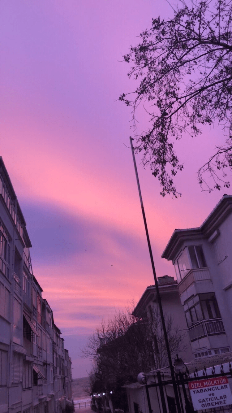 Aesthetic Japan Purple Sky Wallpapers - Wallpaper Cave