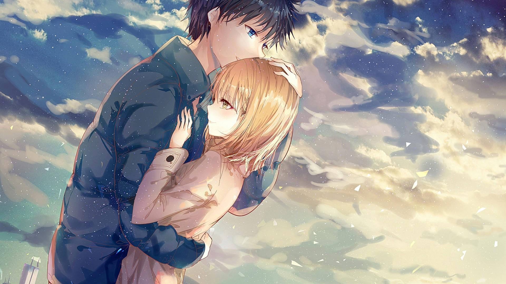 Cute Of Anime Couple Wallpapers Wallpaper Cave