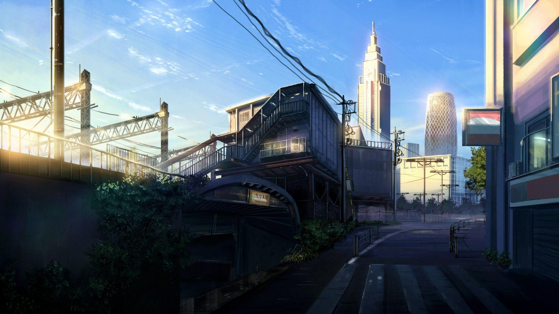1080p Anime City Wallpapers - Wallpaper Cave