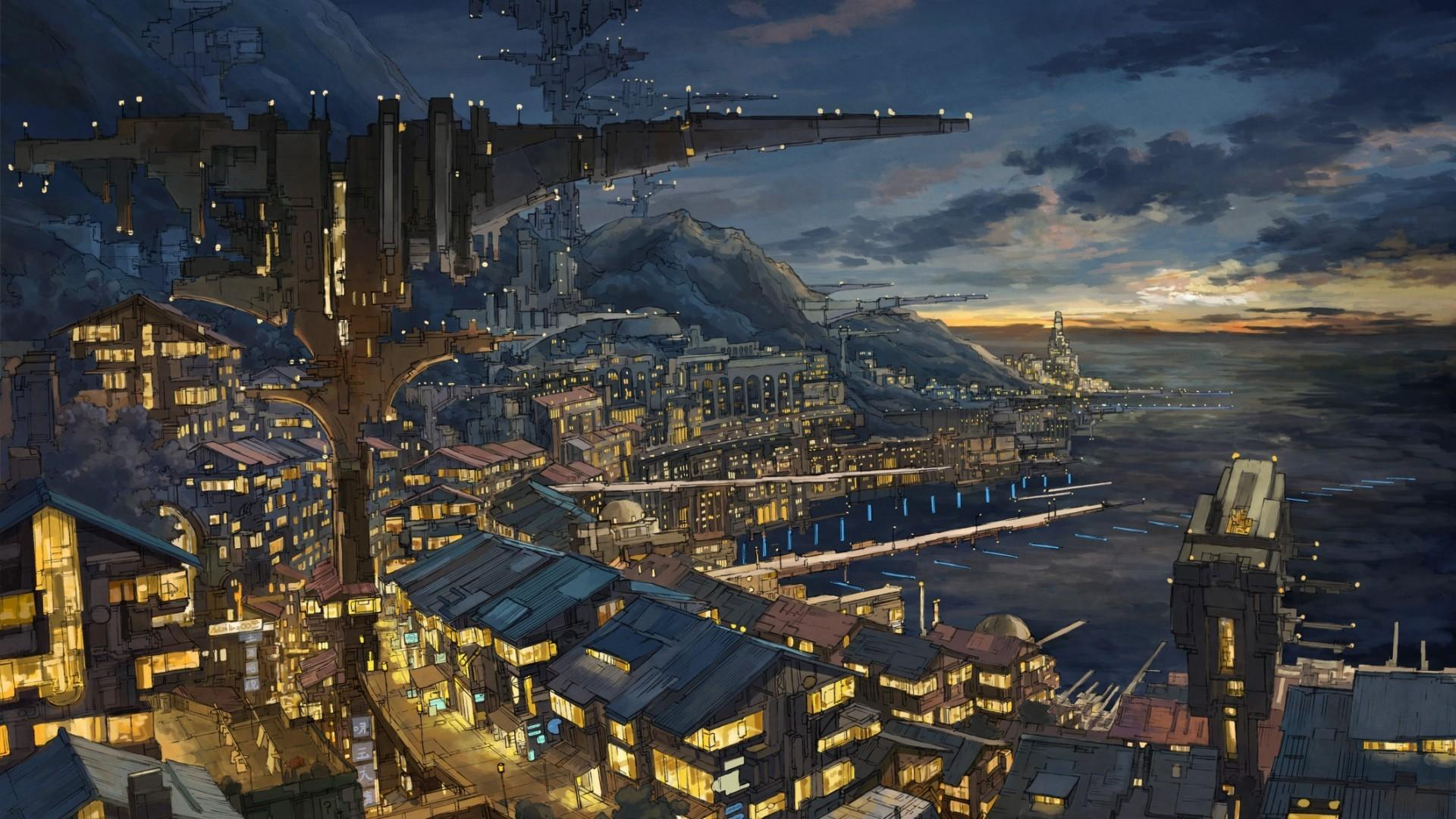 Anime City 1920x1080 Wallpapers - Wallpaper Cave
