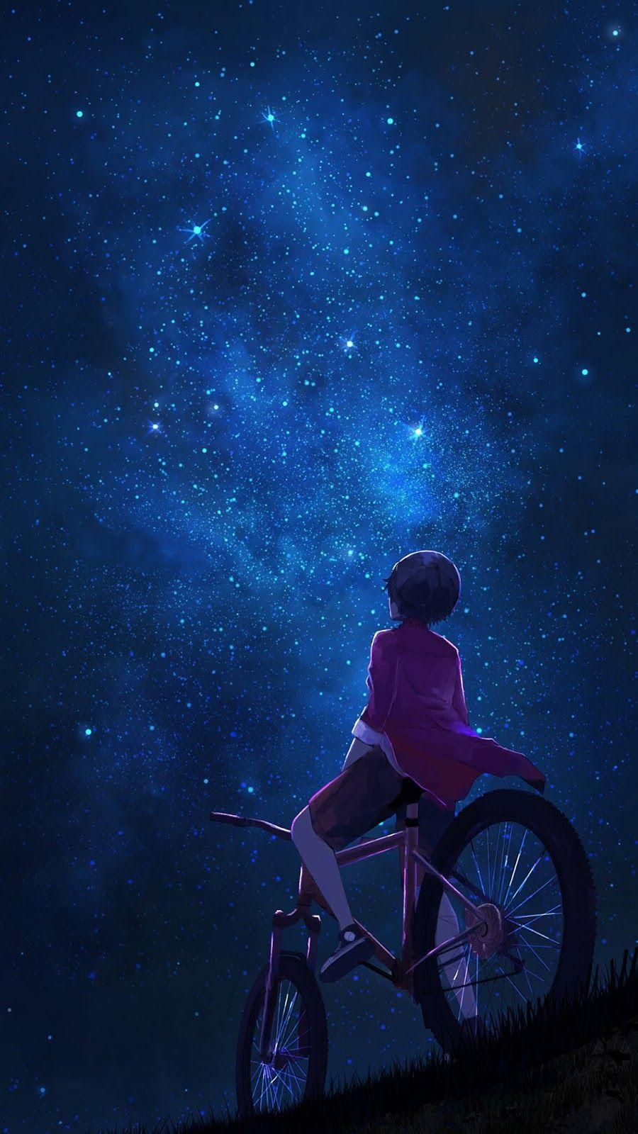 Night Sky Android Anime Wallpapers Wallpaper Cave