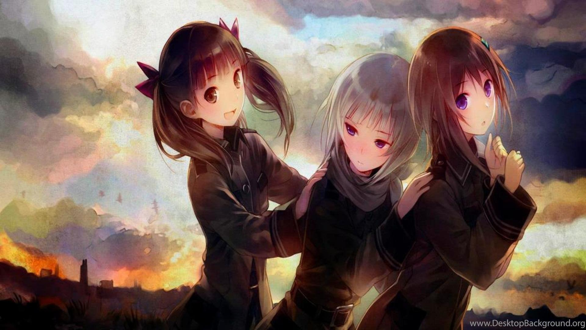 Friends Forever Anime Style Wallpapers Wallpaper Cave