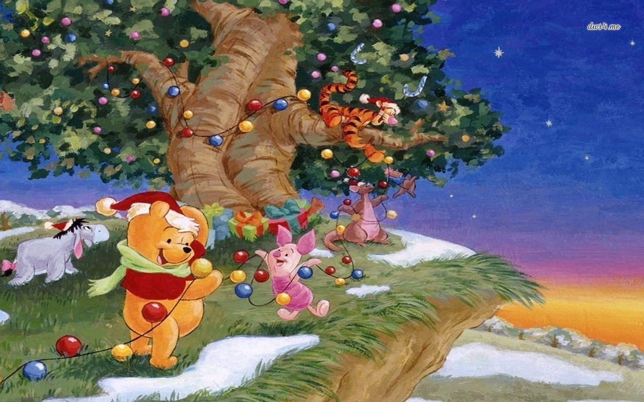 Christmas Winnie The Pooh Wallpapers Wallpaper Cave